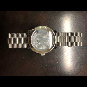 Women's Michael kors silver watch like new